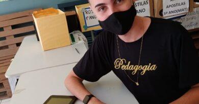 Projeto de jovem Guanduense está fazendo sucesso em escola de Linhares-ES.