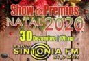 Sorteio do Show de Prêmios Natal 2020 será transmitido pela Rádio Sintonia FM em Baixo Guandu-ES.