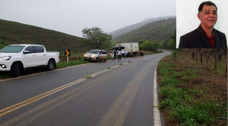 Chefe de gabinete da prefeitura de Aimorés-MG morre em acidente na BR 474.